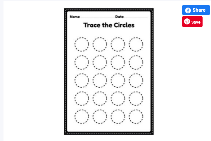 Tracing Circles Worksheets for Kids