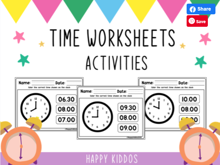 Children's time worksheets