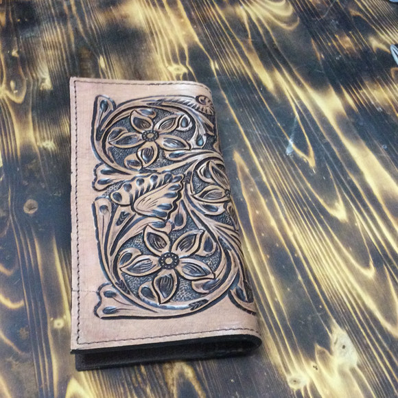 American Darling Light Tooled Wallet