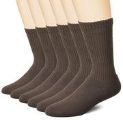 Athlemo 6 Pack Circulation Crew Socks Non-Binding Bamboo Diabetic Socks