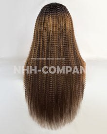 22 Inch 150% Density Ombre Color T Frontal Wig