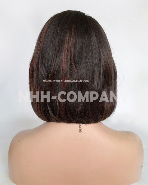 10 Inch Long Bob Straight Glueless Lace Front Wig