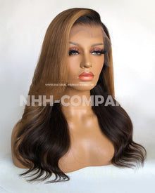 16 Inch Side Parting 180% Density T Frontal Wig
