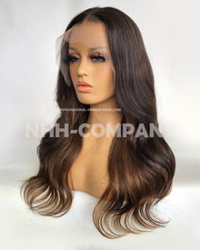 Wavy18 Inch Ombre Color T Frontal Wig
