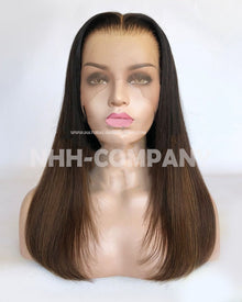 18 Inch Straight Ombre 180% Density Glueless Lace Front Wig