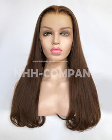 20 Inch Virgin Human Hair 150% Density Glueless Lace Front Wig