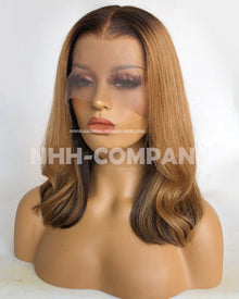 14 Inch Ombre Color Glueless Lace Front Wig