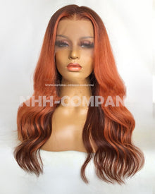 18 Inch Ombre Color Wavy 180% Density T Frontal Wig