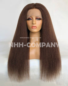 24 Inch Kinky Straight  Lace Front Wig