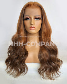20 Inch 180% Density Ombre Wavy Lace Front Wig