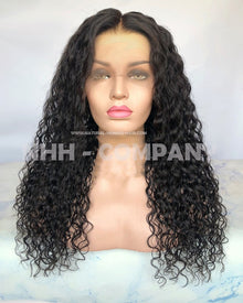 20 Inch Natural Hairline Bleach Knots Natural Color Curly Glueless Full Lace Wig