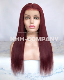 18 Inch Virgin Human Hair color #99J  Glueless Full Lace Wig