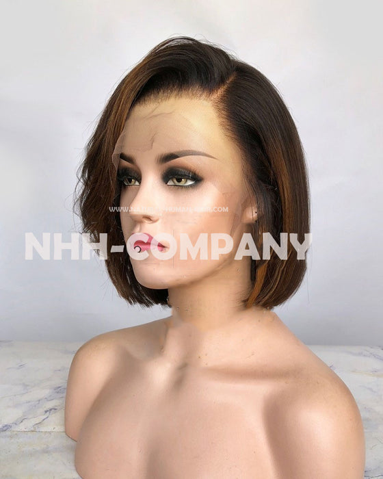 10 Inch Virgin Hair Bob Lace Front Wig