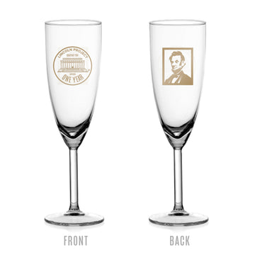 Lincoln Project 1 Year Anniversary Champagne Glass