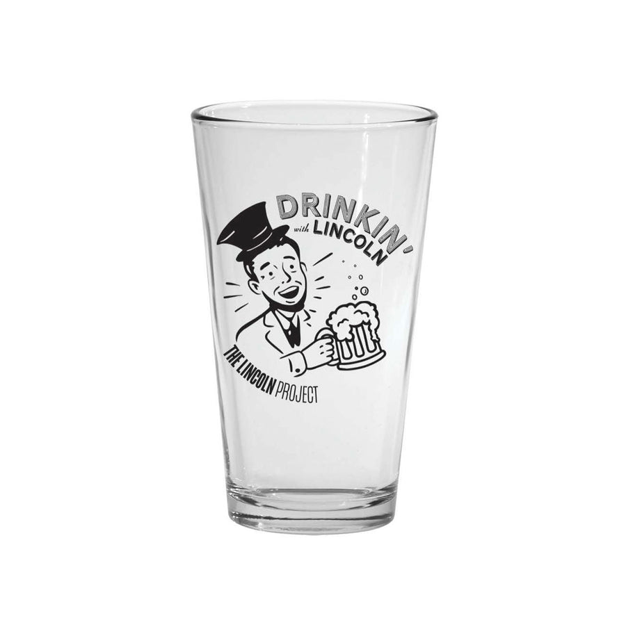 """Drinkin' With Lincoln"" Pint Glass"