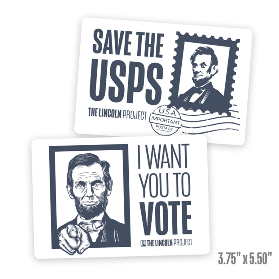 Save the USPS/Voter Bumper Sticker 2-Pack