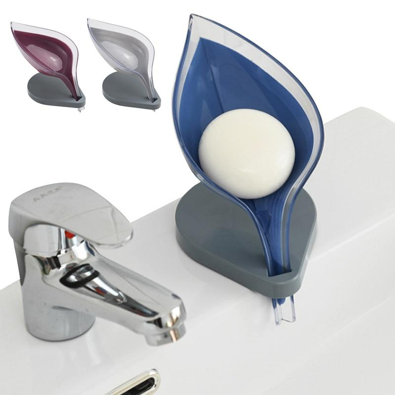 Soap Holder Sink Sponge Drain Box Suction Cup Bathroom