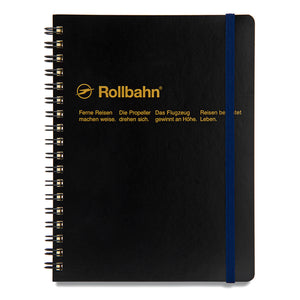 Rollbahn Black Large Spiral Notebook