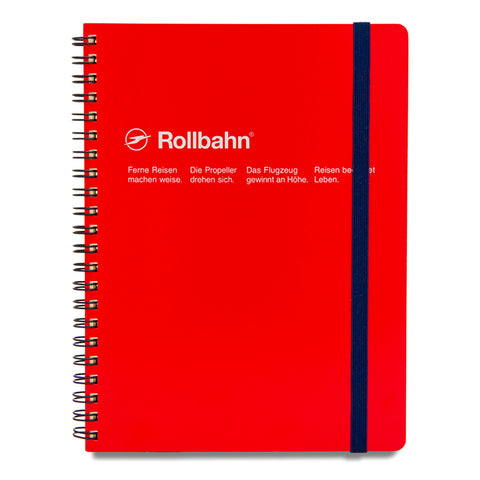 Rollbahn Red A5 Spiral Notebook