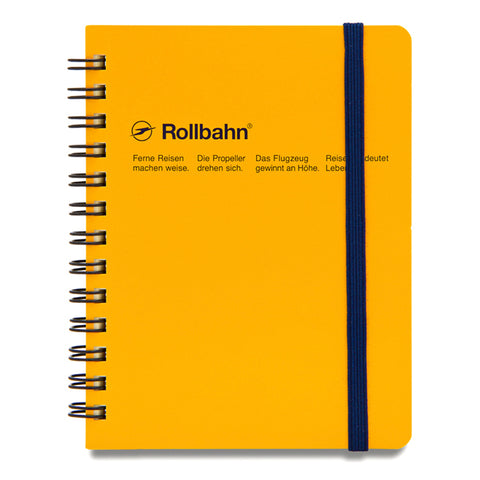 Rollbahn Small Yellow Spiral Notebook