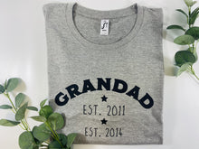 Load image into Gallery viewer, Established, Dad, Daddy, Grandad, T-Shirt, Adult, Personalised