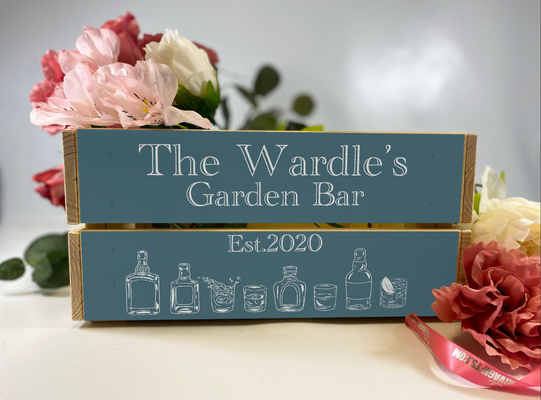 Garden Bar Crate, Personalised
