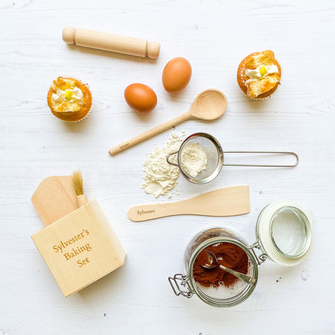 Personalised Children's Wooden Montessori Baking Set For Toddlers/Preschoolers