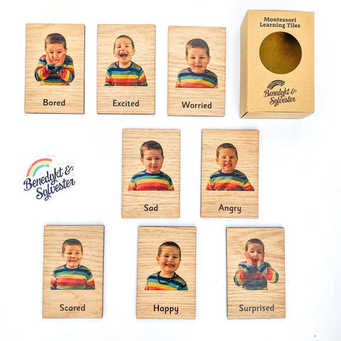 Montessori Learning Tiles for Toddlers - Emotions