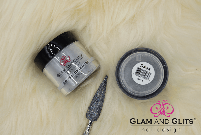 Glam and Glits Diamond Acrylic Nail Color Powder - DAC64 ONYX DAC64