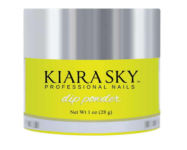 Kiara Sky Dip Glow Powder - DG112 ELECTRIC YELLOW DG112
