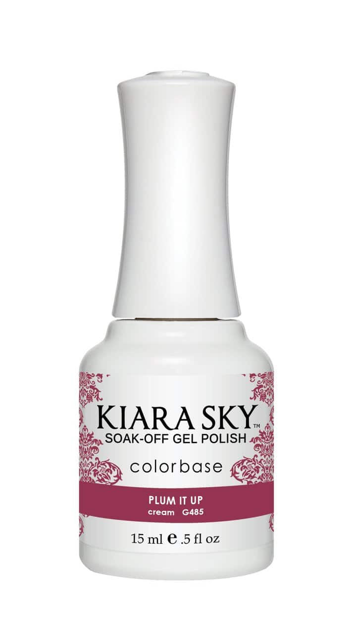 Kiara Sky Gel Nail Polish - G485 PLUM IT UP G485