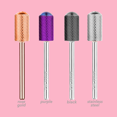 Kiara Sky Nail Drill Bit - Large Smooth Top Medium Bit (Rose Gold) BIT17RG