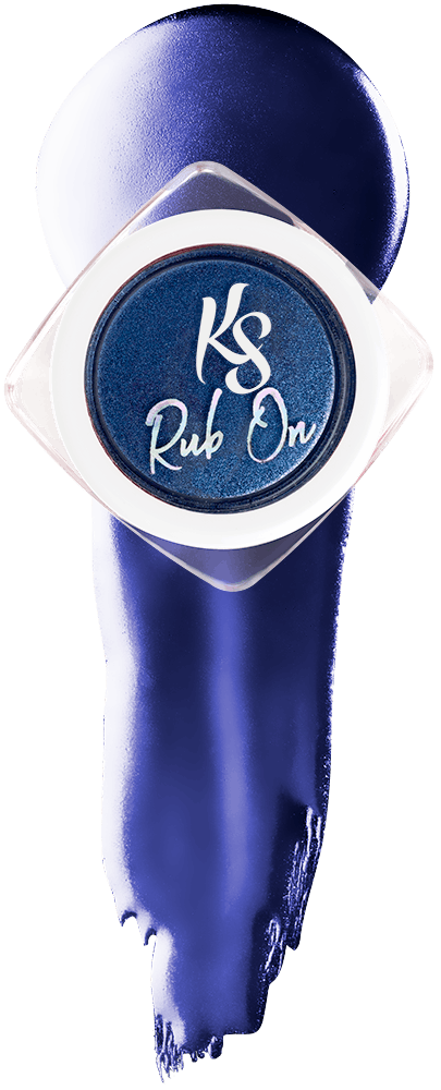 Kiara Sky Rub On Color Powder - Chrome - BLUE-TALLICA KSROBT