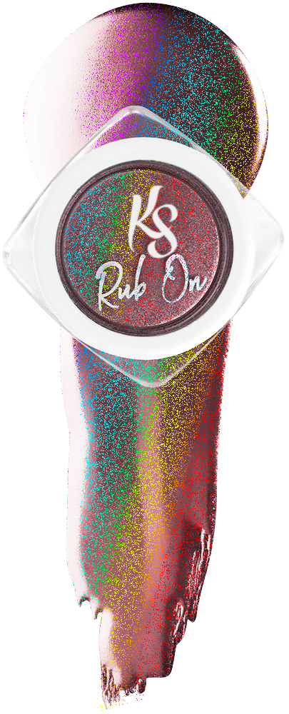 Kiara Sky Rub On Color Powder - Holo - IN PINK WE TRUST KSROPT
