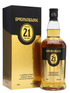 Springbank 21yr old (Released 2018) ABV:46%