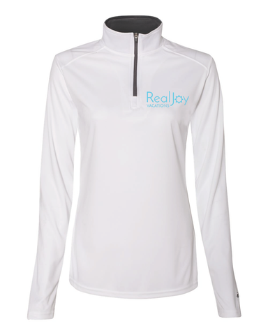 Real Joy Vacations- Ladies 1/4 Zip Pullover
