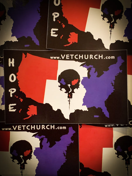Vet Church HOPE sticker