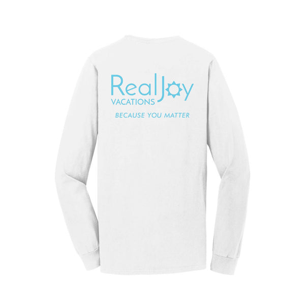 RealJoy Vacations Unisex Long Sleeve Cotton Tee