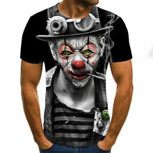 Load image into Gallery viewer, 3D Printed T Shirt Men Joker Face Casual O-neck Male Tshirt Clown Short Sleeve Funny T Shirts 2020 Summer Tee Shirt Homme