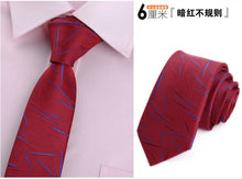 Load image into Gallery viewer, tie skinny 6cm ties for men Wedding dress necktie fashion plaid cravate business gravatas para homens slim shirt accessories lot