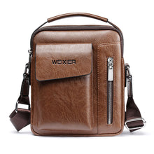 Load image into Gallery viewer, Casual Men Shoulder Bag Vintage Crossbody Bags High Quality Male Bag PU Leather Handbag Capacity Men Messenger Bags Tote Bag