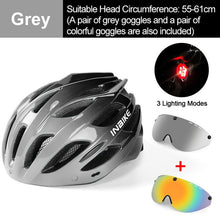 Load image into Gallery viewer, INBIKE Light Bicycle Helmet Safe Hat For Men Women Specialized MTB Road Bike Helmet with Taillight Sport Riding Cycling Helmet