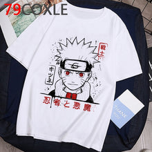 Load image into Gallery viewer, Naruto Fashion Japanese Anime T Shirt Men Sasuke Funny Cartoon T-shirt Casual Cool Streetwear Tshirt Couple Hip Hop Top Tee Male