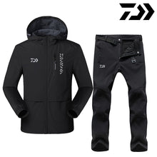 Load image into Gallery viewer, Reflective Daiwa Winter Fishing Clothing Sets Men Breathable Keep Warm Protection Outdoor Sportswear Clothes Fishing Clothes