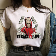 Load image into Gallery viewer, La Casa De Papel Tshirt Money Heist Tees TV Series T Shirt Women T Short Sleeve House of Paper Funny Female T-Shirt Tops