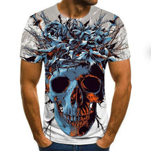 Load image into Gallery viewer, Men clothes 2020 New Mens Summer Skull Print Men Short Sleeve T-shirt 3D print t Shirt Casual Breathable funny t shirts