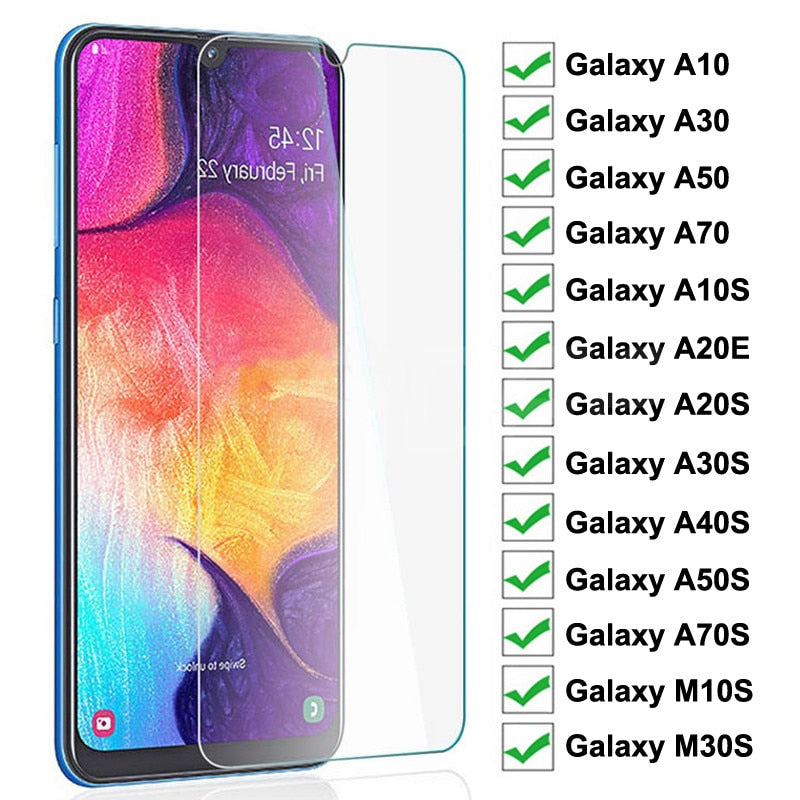 9H Tempered Glass For Samsung Galaxy A10 A30 A50 A70 Screen Protector Samsung A20E A10S A20S A30S A40S A50S A70S M10S M30S Glass