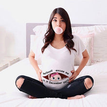 Load image into Gallery viewer, Summer Funny Cartoon Print Maternity Clothing Plus-Size Short Sleeve Pregnant T-Shirt Tops  Women Hot Sale T-Shirts