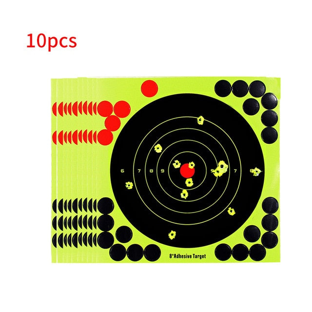 10 Pcs Lot Splash Flower Target 8-Inch Adhesive Reactivity Shoot Target Aim For Gun Rifle Pistol Binders For Rifle Shoot Target