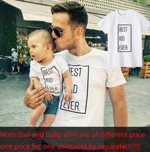 Load image into Gallery viewer, Father and Son Best Friends for Life Family Matching Family Look T Shirt Baby Dad Matching Clothes Father and Son Matching